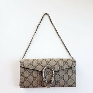 Gucci Dionysus Removable Chain Wallet - Tan
